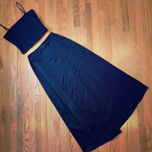 Bustier top with long skirt
